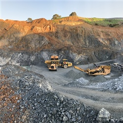 Crushing at Kaiatea Quarry