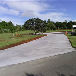 Concrete carpark extension at Whangarei Museum - Kiwi North
